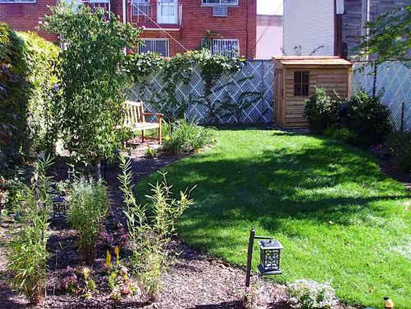 The garden at 31-81 landscaping phase 1 complete